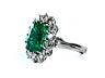 Detail images: Smaragd-Brillantring