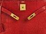 "Detail images: Hermès Kelly Bag Echse ""Rouge"""