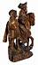 Detail images: Schnitzfigurengruppe eines königlichen Reiters in Begleitung eines Knappen