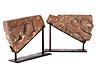 Detail images: Paar bedeutende romanische Hochrelieffiguren
