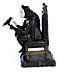 Detail images: Bronzefigur eines Harlekin