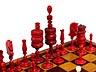 Detail images: Schachfiguren im Brettspielkasten