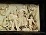Detailabbildung: Elfenbeinschnitzrelief eines Bacchanten-Triumphzugs