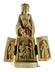 Detail images: Kleine Elfenbeinfigur einer Dame mit Gebetsbuch und Brustkreuz