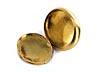 Detail images: Ovale Golddose mit Blütendekoration in Form von Rubinrosetten und kleinen Diamanten