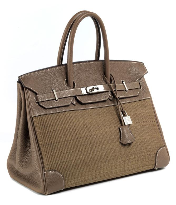 "Hermès Birkin Bag 35 cm ""Crinolin"" Etoupe"