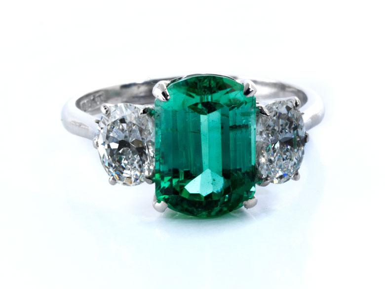 Paraibaturmalin-Diamantring