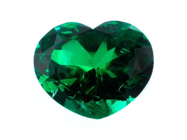 Loser Smaragd in Herzform