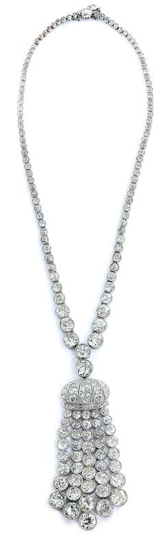 Antikes Diamantquastencollier