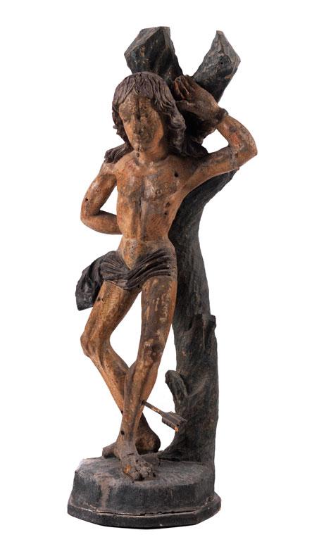 Schnitzfigur des Heiligen Sebastian
