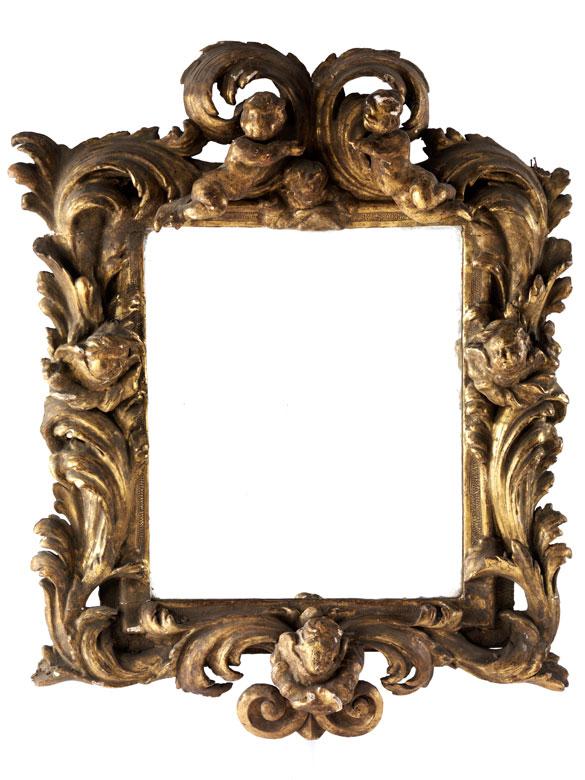 Kleiner Barock-Spiegel mit Puttendekor