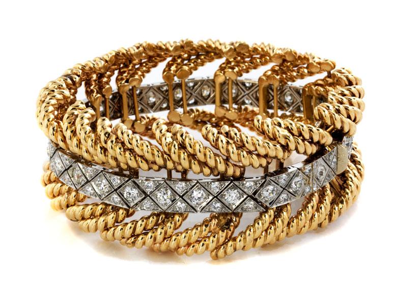 Gold-Brillantarmband von Verdura