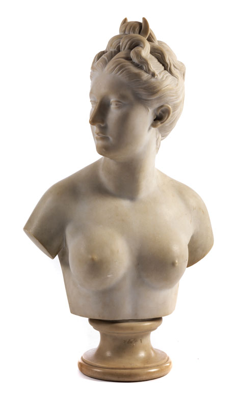 Marmorbüste der Jagdgöttin Diana