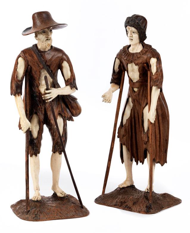 Figurenpaar in der Art von Simon Troger
