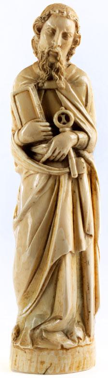 Elfenbeinfigur des Heiligen Petrus