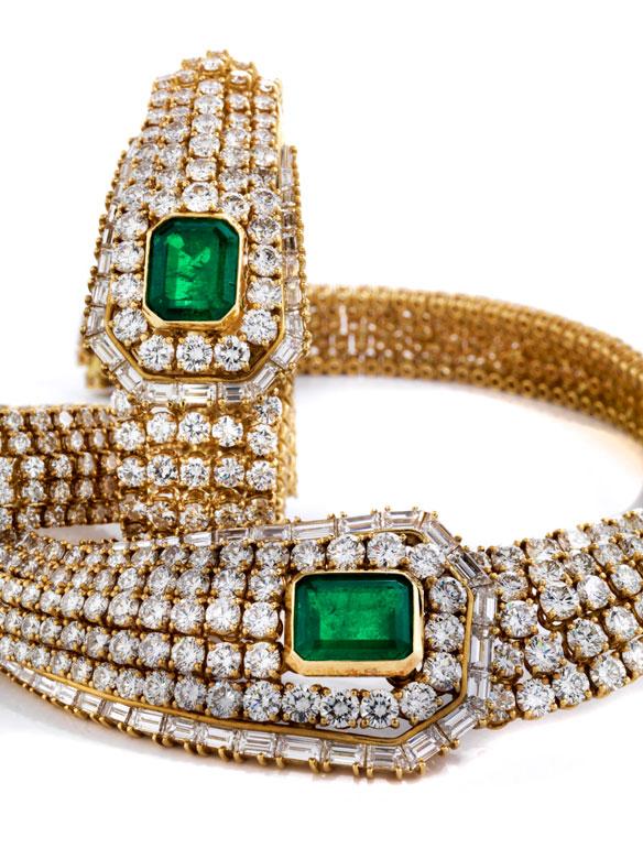 Diamant-Smaragdset