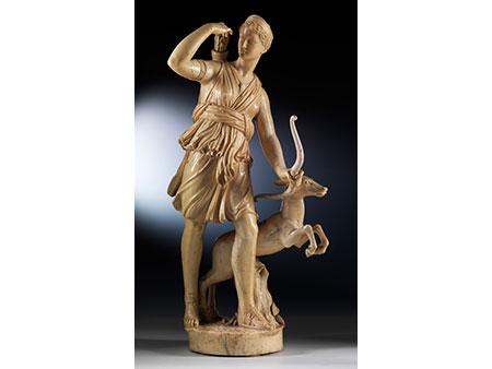 """Große Elfenbein-Schnitzfigur der """"Diana von Versailles"""""""