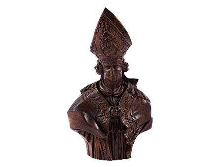 Lebensgroße Büste eines Bischofs