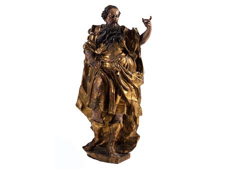 Große geschnitzte Apostelfigur