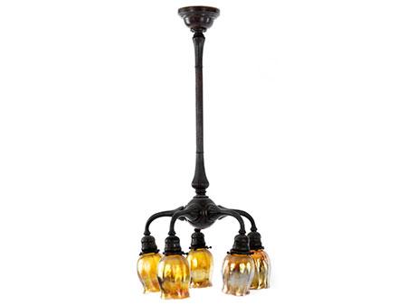 Deckenlampe mit Tiffanyglas