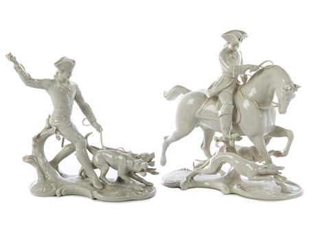 Zwei Nymphenburger Porzellanfigurengruppen