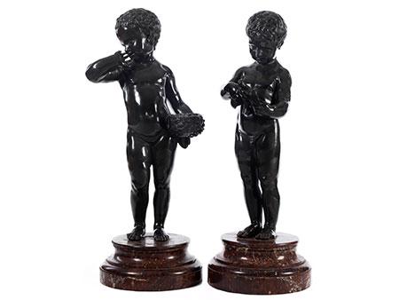 Paar Bronzefiguren