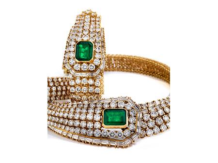 Detail images:  Diamant-Smaragdset