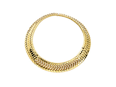 Gold-Brillantcollier