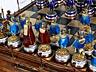 Detail images: Prächtiges russisches Schachbrettspiel mit emaillierten Silberfiguren