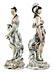 Detail images: Paar große Porzellanfiguren weiblicher mythologischer Gestalten