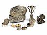 Detail images: Konvolut von sieben Silberobjekten