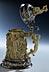 Detail images: Feiner Elfenbeinhumpen mit Silbermontierung