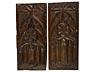 Detailabbildung: Paar gotische Maßwerkschnitztafeln