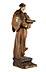 Detail images: Schnitzfigur des Heiligen Franziskus mit dem Jesuskind