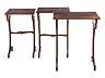 Detail images: Satz von drei Tischchen in der Art von Émile Gallé (1846-1904)