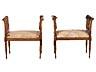 Detail images: Satz von vier Louis XVI-Bänkchen