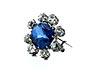 Detailabbildung: Saphir-Diamantbrosche