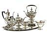 Detailabbildung: Großes silbernes Tiffany Service