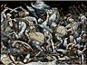 Detail images: Große Limoges-Emailbildplatte mit Darstellung der Anghiari-Schlacht