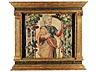Detail images: Paar gefasste und teilvergoldete Aedicularahmungen im Renaissance-Stil mit Gobelin-Tapisserieeinlagen