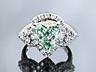 Detail images: † Grüner Diamant-Herzring