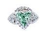 Detailabbildung: † Grüner Diamant-Herzring
