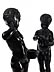 Detail images: Paar Bronzefiguren