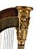 Detailabbildung: Harfe mit Empire-Schnitzdekor
