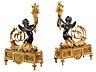 Detail images: Paar elegante Louis XVI-Zierkaminböcke