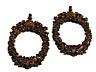 Detailabbildung: Paar feine in Buchsholz geschnitzte ovale Rähmchen