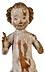 Detail images: Schnitzfigur eines Jesusknäbleins mit erhobener Segenshand