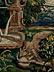 Detailabbildung: Prachtvoller Brüsseler Wandteppich mit Darstellung einer höfischen Parkanlage