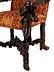 Detail images: Venezianischer Armlehnstuhl mit Mohrendekor