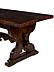 Detail images: Tisch mit geschnitztem Unterbau im gotischen Stil